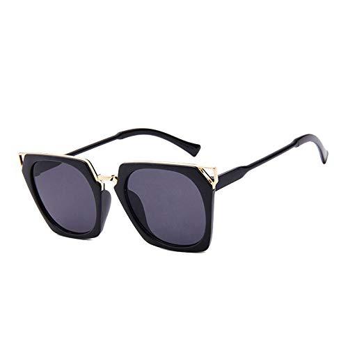 Gafas De Sol Gafas De Sol De Moda para Mujer Diseñador Clásico Revestimiento Femenino Espejo Lente De Panel Plano Gafas De Sol Uv400 C1Fullblack