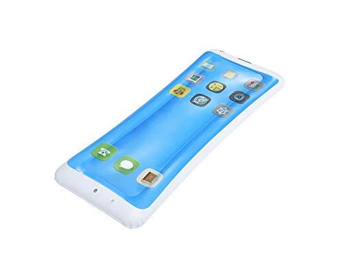 XL Smartphone Luftmatratze 160 x 68 cm - Schwimmliege für Pool Urlaub Strand Meer