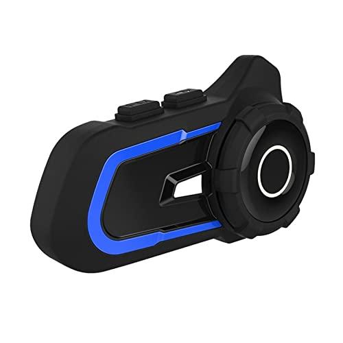 NewIncorrupt Auriculares inalámbricos 5.1 para Motocicleta, emparejamiento Universal, intercomunicador de Rango de 1000 m (Azul)