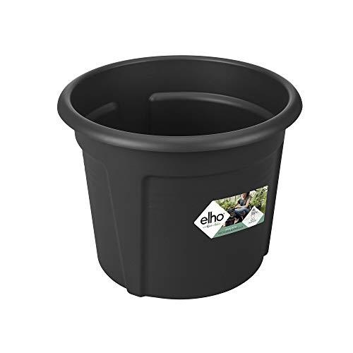 Elho Green Basics Kartoffeltopf 33 - Blumentopf - Lebhaft Schwarz - Draußen - Ø 32.3 x H 25.7 cm
