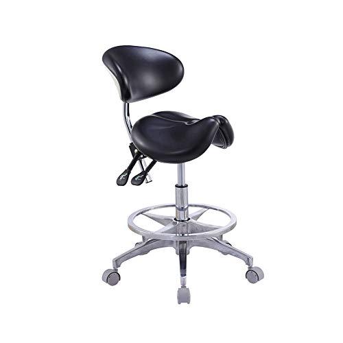 DZWJ Sattelstuhl Sattelsalon-Massagesessel mit Verstellbarer Rückenlehne und hydraulischem Gasfeder-Ergonomie-Hocker