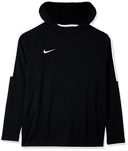 Nike Dry-FIT Academy - Sudadera de fútbol con capucha para niños, Negro (Black/White), S EU (128-137 cm)