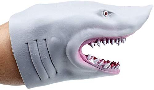 Family in Handpuppen Für Kinder,Realistische Tiere Handpuppen Handschuhe Shark Weiches Dehnbares Spielzeug Für Jungen Und Mädchen Pädagogisches Spielzeug Rollenspiel Spielzeug