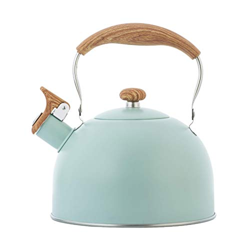 2.5L Whistling Stove Top Kettle Stainless Steel Teapot Induction, Compatible Gas Stove, Induction Cooker, Make Coffee, Make Milk, Make Tea, Boil Water, Suitable for All Heat Sources-22.5x19.5cm