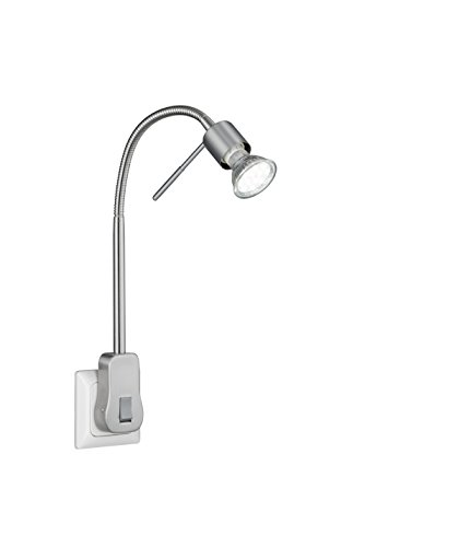 Trio Leuchten 899670107 Laon A+, LED Steckerspot, Metall, 5 watts, GU10, Nickel matt, 16 x 4.7 x 40 cm