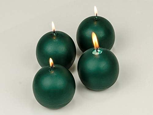 ELEGANI Popular standard Christmas Holiday Candles and Home Green Decor Bal 2.5