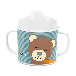 Sterntaler Taza con asa y accesorio para beber, Oso Ben, Edad: Para bebés a partir de 6 meses