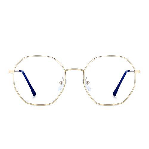 JM Damen Anti Blaues Licht Blockierung Brillen Mode Designer Computer Gläser Reduzieren Auge Belastung Gold