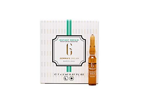 Gemma's Dream- Instant Repair- Ampollas flash faciales- Hidratantes y reparadoras progresivas- Aloe vera y ácido hialurónico- 7 Ampollas faciales x 2ml