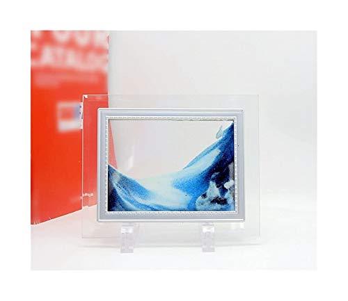 Jszzz Mini Größe Fließende Sand Landschaft Rechteck Glas Sand Photo Frame Abstrakt Sandscape mit...