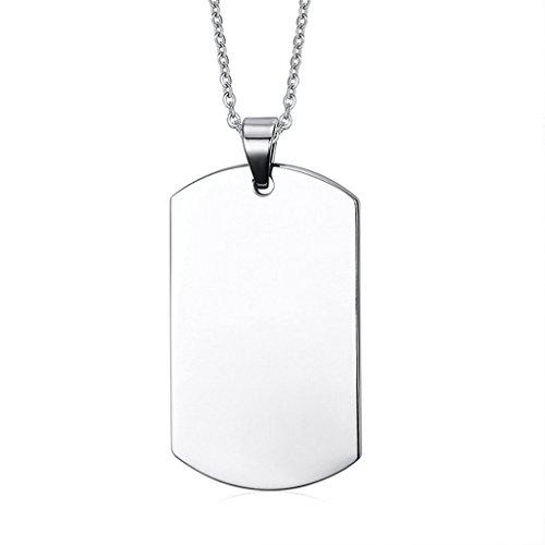 Daesar Joyería Acero Inoxidable Colgante Collar Hombre Placa de Militar Dog Tag ID Pendant
