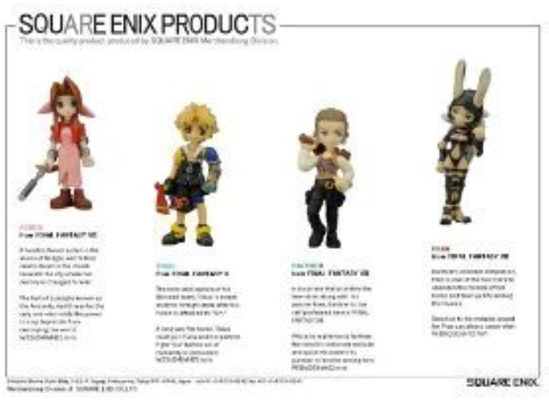 Final Fantasy Trading Arts Vol. 3Mini PVC Figur 4-pack Aerith GainsbGoldugh, Tidus, bathier and Fran by Final Fantasy