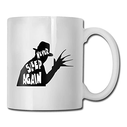 Taza Never Sleep Again, taza de café para bebidas calientes, taza de gres, taza de café de cerámica, taza de té de 11 oz, regalo divertido, taza de café y té