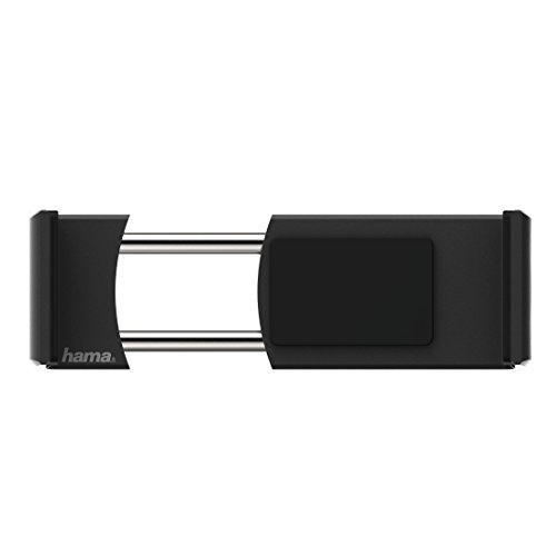 Hama Flipper KFZ Passive Holder Schwarz–Halterung (Mobiltelefon/Smartphone, Auto, passive Holder, schwarz, Clamp Mount, 360°)