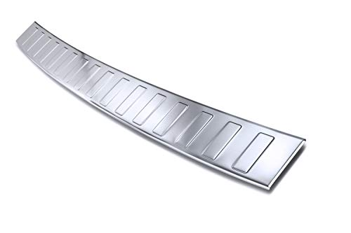 tuning-art BL967 Ladekantenschutz mit Abkantung Modellspezifisch, Farbe:Silber