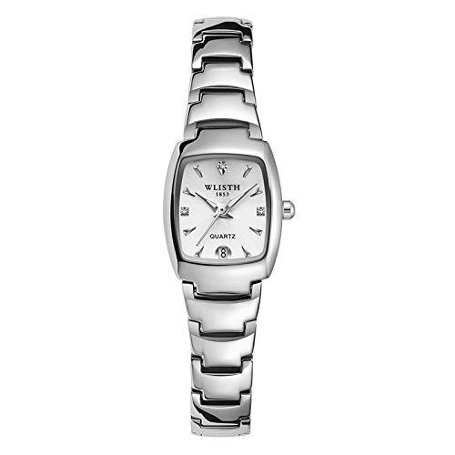Movimiento de Cuarzo - Relojes de diseño clásico Calendario para Hombre Colección Correa de Acero Inoxidable -A