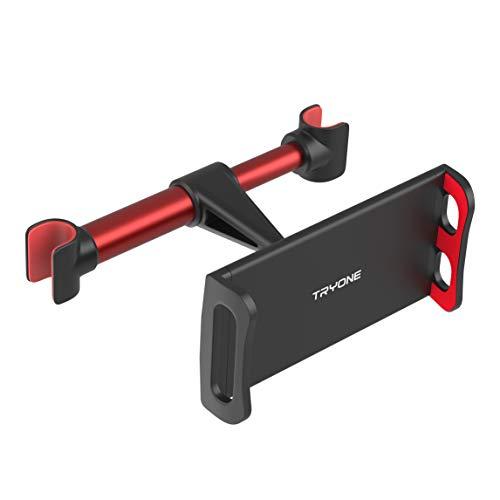 Tryone Supporto Tablet Poggiatesta Auto, supporto per tablet per sedile d auto per iPad Samsung Galaxy Tab Amazon Kindle Fire HD Altri ecc di 4,7-10,5 pollici (Rosso)