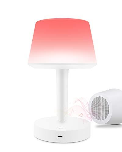 Xian Ju Nachttischlampe mit Bluetooth Lautsprecher, LED Nachtlicht Tischlampe mit RGB 3 Touch-Dimmbare Modi und 6 Farbwechsel, Geschenk für Frauen Männer Teenage Kinder