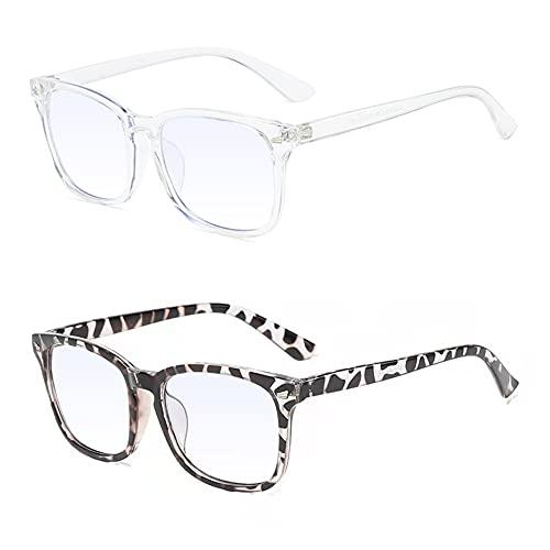 Gafas de luz azul, Gafas de bloqueo de luz azul, Gafas luz azul, Gafas de lectura, gafas de radiación que pueden filtrar la luz azul para aliviar la fatiga ocular, unisex - 2 piezas