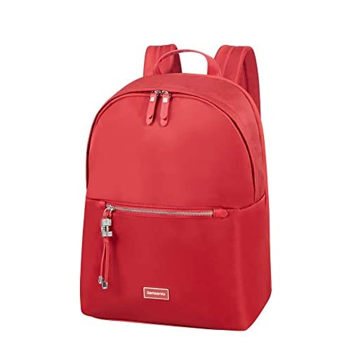 Samsonite Karissa Biz Zaino Rotondo per Laptop.39.5 cm, 17.3 Litri, Rosso (Formula Red)