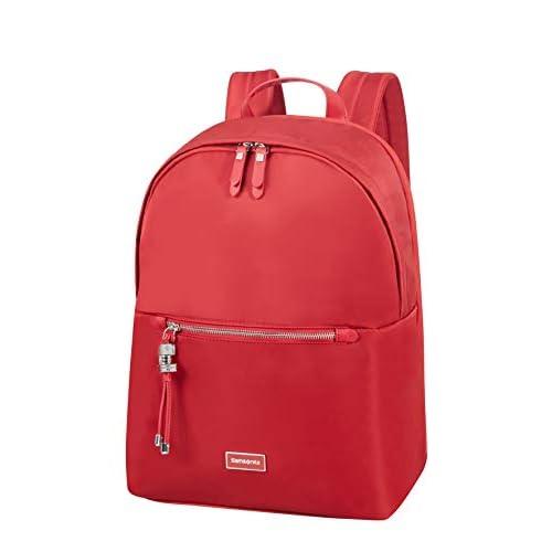 Samsonite Karissa Biz Zaino Rotondo per Laptop, 39,5 cm, 17,3 L, Rosso (Formula Red)