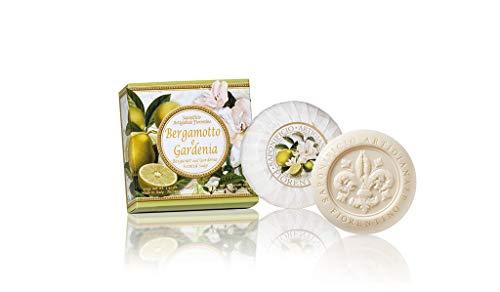 Saponificio Artigianale Fiorentino handgemachte Seife Bergamotte & Gardenie verpackt in Geschenkbox 100 g