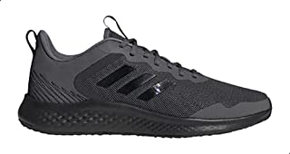 Adidas Fluidstreet Iridescent-Stripe Pull-Tab Patterned Backstay Lace-Up Running Sneakers for Men