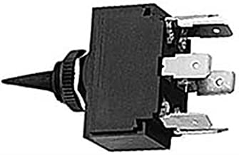 Hubbell Wiring Systems M223SP Toggle Switch with 1 Key, Double Pole, Double Throw, On/Off/On, 12 VDC, Black