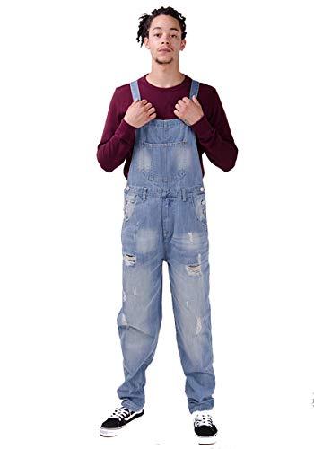 Wash Clothing Company Salopette Uomo Loose Fit con Strappi o Senza Strappi 2 Colori