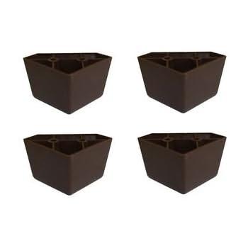 "Amazon.com: ProFurnitureParts 1.75"" Tall Triangle Corner Sofa Legs, Brown Color, Set Of 4, HDPE Plastic: Furniture & Decor"