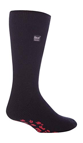 HEAT HOLDERS - Hombre invierno gordos antideslizantes calcetines estar por casa (46-50 Eur, Black/Red)