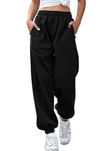 Aleumdr Pantaloni Larghi Donna Pantaloni Harem Pantaloni Hip Hop Lunghi Pantaloni Sportivi Donna Pantaloni Lunghi Casual Pantaloni Danza Pantaloni Yoga Jogging