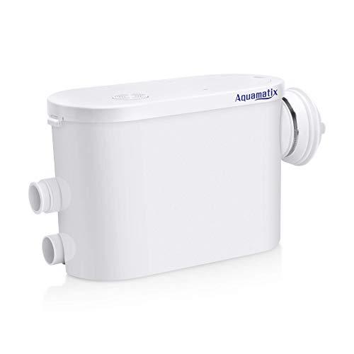 Aquamatix Silencio S - Hebeanlage Abwasserpumpe Haushaltspumpe für Hang Toilette WC 400W Leise