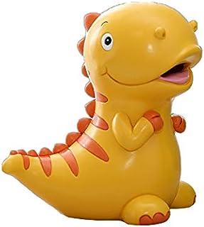 Z3Z Hucha Decoración del Hogar Juguetes para Niños Diseño Creativo Forma De Dinosaurio Material De Resina Pintado A Mano