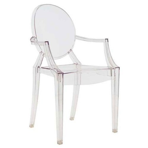 Kartell 4853B4 LOUIS GHOST Chaise lot de 4, transparent