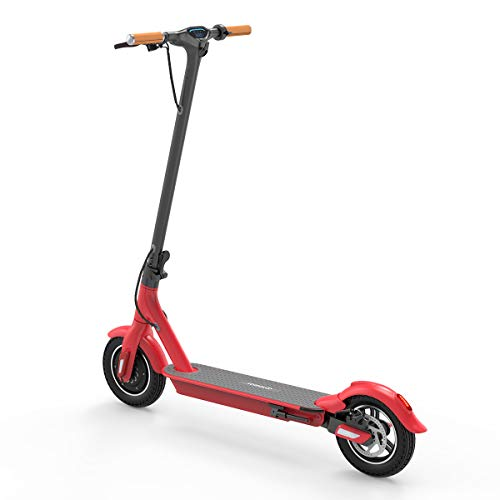 TOMOLOO Electric Scooter for Adults, Commuting Electric Scooter Lightweight Folding Electric Scooters, with Led Lights and UL2272 Certified (Red)