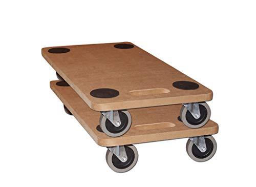 Möbelroller Transportroller 250 kg Rollbrett MDF Möbel Hund Roller (2 Stück)