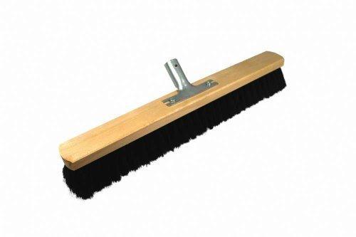 Cepillo de 60 cm con mango soporte industrial sin mango escoba para interiores ambas piezas grande escoba Rosshaarm. Escoba