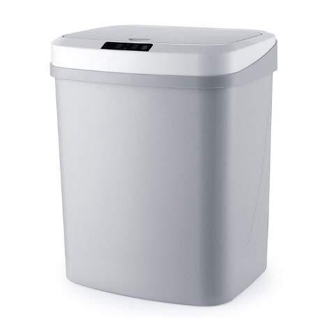 Menage intelligente automatische Induktion elektrische Müll Papierkorb Smart-Desolate Bins Ashbin Kick-Fass-Batterie Version Trash Can Bento Lunch Box for Kinder (Farbe: 15L weiß) 1yess