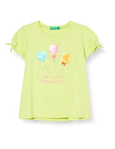 United Colors of Benetton Mädchen T-Shirt Pullunder, Gelb (Limeade 28m), 104 (Herstellergröße: XX)
