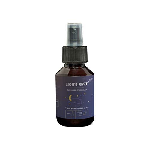 Lavendelspray Lion´s Rest I 100ml Lavendel Gute Nacht Spray I Lavendelöl zum Gut Schlafen I Natürliche Schlaf Pillen & Schlafmittel Alternative I Natürlicher, nicht chemischer, Geruch