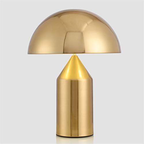 TATANE Lámpara de Mesa Moderna lámpara de Escritorio de Metal Italia réplica lámpara de Mesa de diseño para Dormitorio lámparas de Mesa de Hierro led Decorativo,Oro