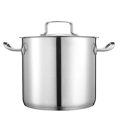 Utensilios de cocina al vapor Pottiquí, olla de sopa de acero inoxidable 304, utilizada para la cocina de gas/cocina de inducción (9/12 / 15L), adecuada para 4-10 personas Charola para hornear