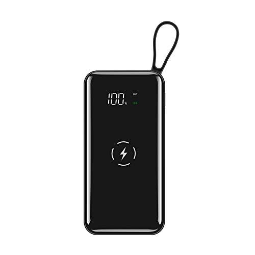 GWX externe oplader, inductie, snel, draadloos, mobiele prestaties, 10.000 mAh, dubbele ingang en drie uitgangen.
