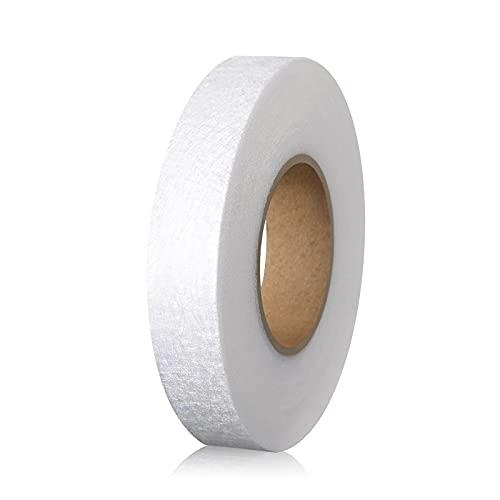 LUTER 2cmx64m Cinta de Fusión de Tela para Planchar Cinta Adhesiva para Planchar para Dobladillo para Doblar Ropa Rota Jeans Tela