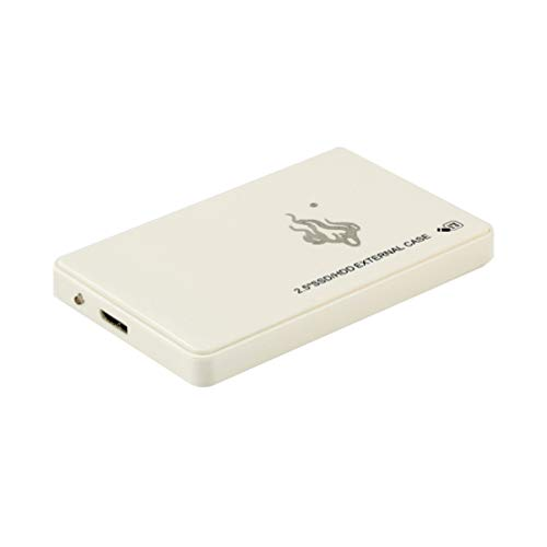 Solustre Unidad de Disco Duro Móvil Usb3.0 Disco Duro Externo Portátil Disco Duro de Alta Velocidad de Gran Capacidad para Computadora Portátil de Escritorio para PC (Blanco 1 TB)