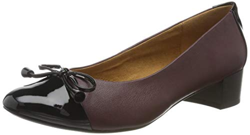 CAPRICE Damen Ingrid Pumps, Rot (Bordeaux NA.CO 520), 40 EU