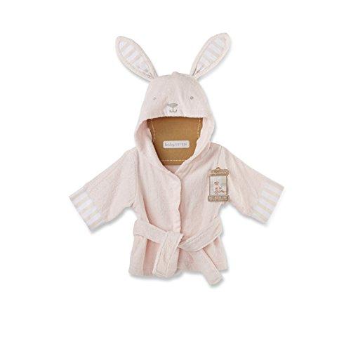 Baby Aspen Bata de Baño con Capucha y Diseño de Conejito para Bebé, Rosa, 0-9 meses