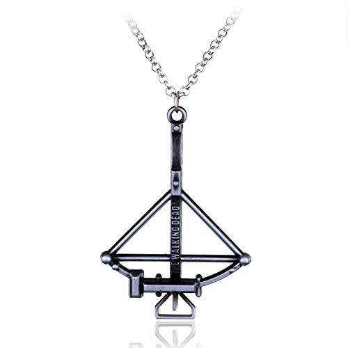 MLSWW Halskette Die Halskette Angst Die lebende Vintage Armbrust Anhänger Männer Mode Halskette Zubehör Daryl Bogenschütze Bogen Pfeil Anhänger Schlüsselbeinkette Geschenke