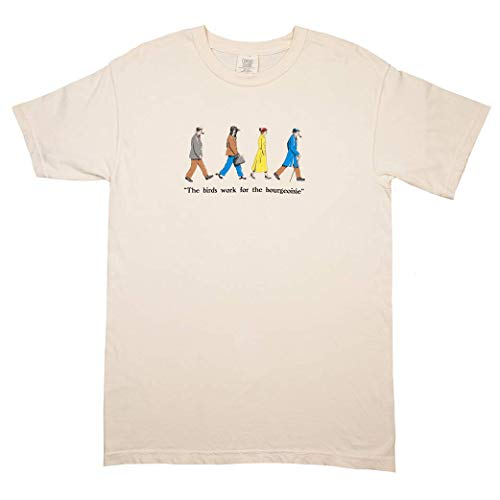 The Birds Work for The Bourgeoisie T-Shirt XL Ivory White